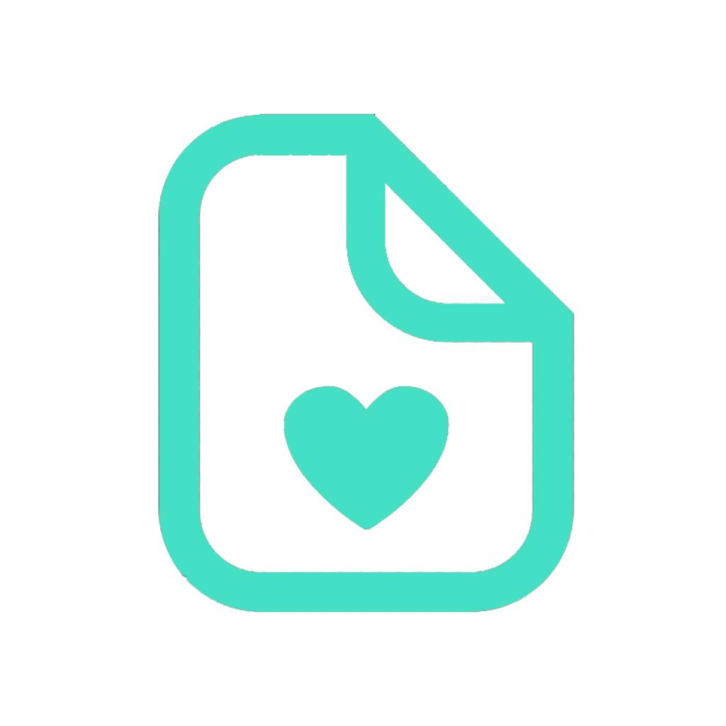 icon paper love