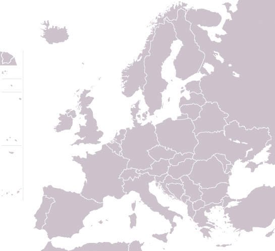 Map of Europe grey
