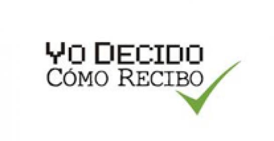 Logo of the Yo Decido Como Recibo campaign